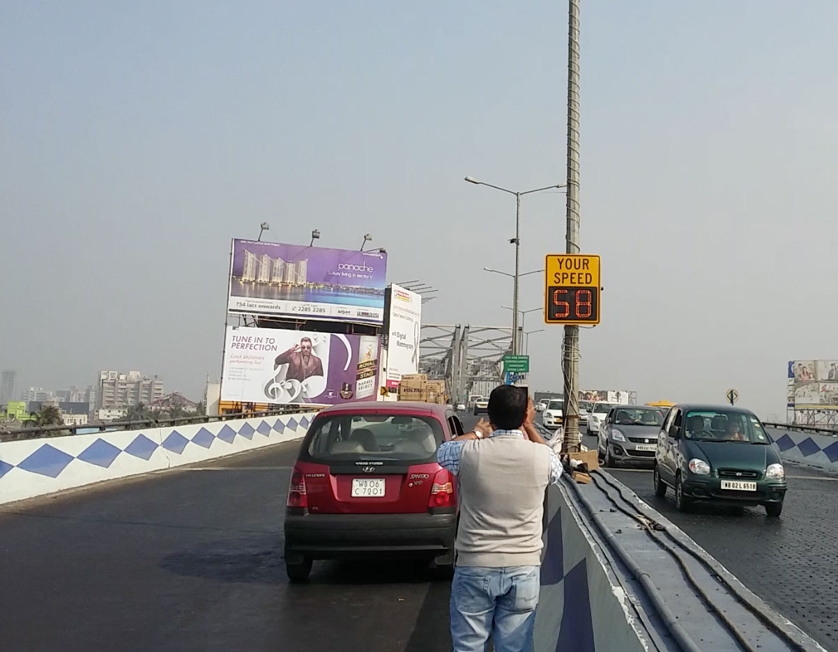 Kolkata Radar Speed Sign