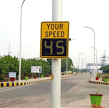Radar Speed Sign In India Industrial Campus