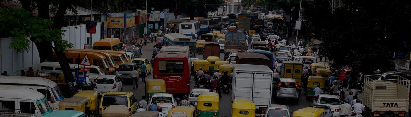 Traffic on India Road